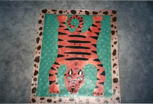 tiger floorcloth