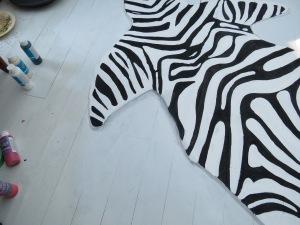 zebra rug close up shading 4