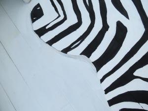 zebra rug shading close up