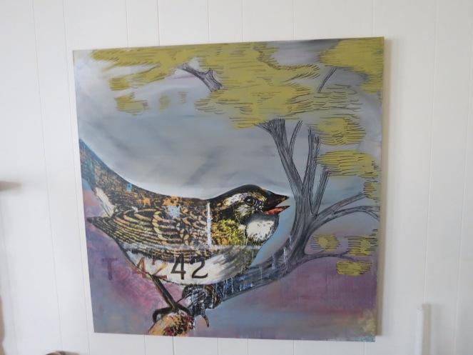 Bird repainted art